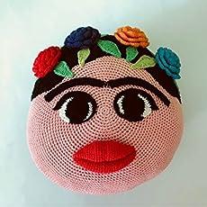 Cojín Frida Kahlo amigurumi de crochet