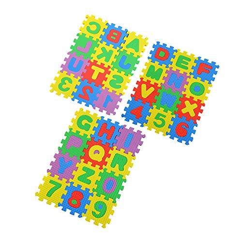 Candyoom 36 stücke Bunte Puzzle Kind Pädagogisches Spielzeug Alphabet AZ Buchstaben Zahl Schaum Spielmatte selbst montieren Baby Krabbeln Pad