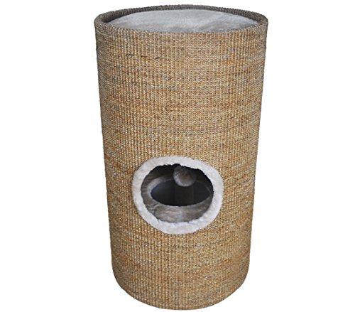 Dehner Cat Sisal Scratching Barrel Tassilo, Diameter 36cm/Height 70cm, Light Brown 1