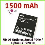 LG FL-53HN Akku Li-Ion 1500 mAh für LG Optimus Speed P990 / Optimus P920 3D