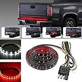 Xcellent Global Lumière de pare-chocs de 150 cm, câble lumineux fin Rouge/Blanc en époxy Waterproof SMD2835-90LEDs, pour les camions, SUV, Jeeps, RV, signale quand le véhicule tourne, s'arrête ou recule AT021