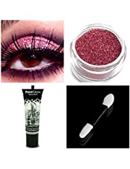 Glitter Eyeshadow   PaintGlow Large Fixing Gel   Wand Makeup for Eye Face Body (Rose Pink)