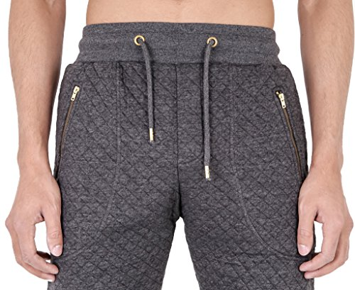 Arrested Development trapuntato Skinny Fit-Pantaloni sportivi da uomo Grey