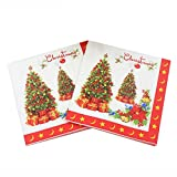 #10: Lepakshi New Christmas Tree Printed Feature Paper Napkins for Party Decoration T