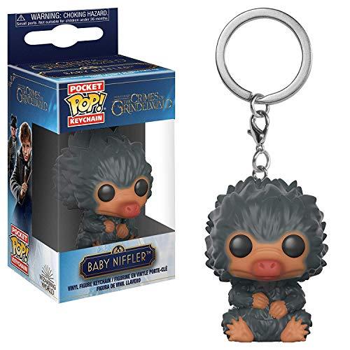 Funko 32770 Pocket POP Schlüsselanhänger: Fantastic Beasts 2: Baby Niffler (grau), Mehrfarbig