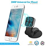 #8: ZAAP®(USA) MAGNETIC TOUCH TWO (3rd Generation) Premium Car Mount/Desk Mount/Car mobile holder [Award Winning--Made in KOREA] Universal compatible for Smartphones with 360 degree rotation & fully adjustable view. Perfect for Car & desk Mounting. Mobile holder (Black, Car accessories)