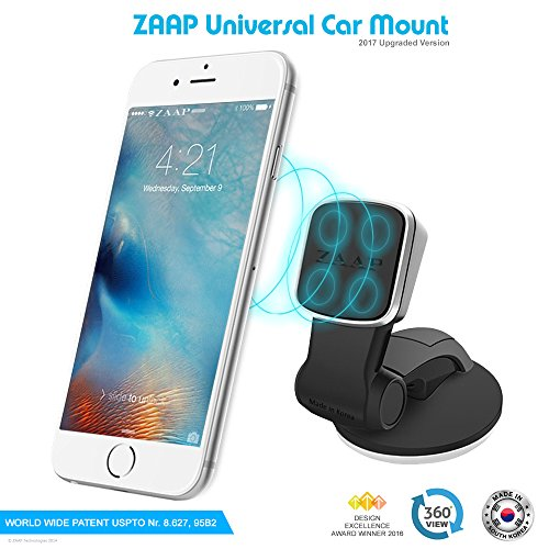 zaap®(usa) magnetic touch two (3rd generation) premium car mount/desk mount/car mobile holder [award winning--made in korea] universal compatible for smartphones with 360 degree rotation & fully adjustable view. perfect for car & desk mounting. mobile holder (black, car accessories) ZAAP®(USA) MAGNETIC TOUCH TWO (3rd Generation) Premium Car Mount/Desk Mount/Car mobile holder [Award Winning–Made in KOREA] Universal compatible for Smartphones with 360 degree rotation & fully adjustable view. Perfect for Car & desk Mounting. Mobile holder (Black, Car accessories) 51Z2RQ 2BeZLL