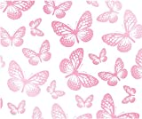 Fun4Walls - Papel pintado, diseño de mariposas, color blanco y rosa