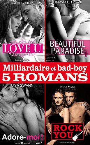 Couverture du livre Milliardaire et bad-boy - Cinq romans