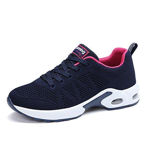 MIMIYAYA Damen Herren Sportschuhe Laufschuhe Bequeme Air Laufschuhe Schnürer Running Shoes Mode und Freizeit Blue 41