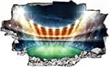 Fussball Stadion Zuschauer Ball Wandtattoo Wandsticker Wandaufkleber C0413 Größe 70 cm x 110 cm
