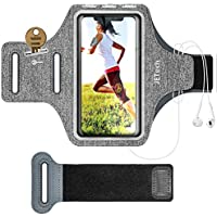 Jetech Brassard de Sport Compatible avec iPhone 11/11 Pro/XR/XS/X/8 Plus/7 Plus/8/7/6s/6, Galaxy S10/S9/S9+, Bande Ajustable et d'une Fente pour Carte, pour la Course, la Marche et la Randonnée