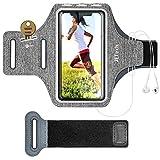 JETech Schweißfest Sportarmband Handy für iPhone 11/11 Pro/XR/XS/X/8 Plus/7 Plus/8/7, Galaxy S10/S9/S9+, Verlängerungsband, Schlüsselhalter und Kartensteckplatz, für Handy Bis zu 6,1 Zoll
