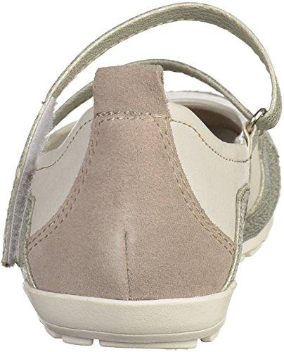Tamaris 1-24637-28 Damen Ballerinas Weiß
