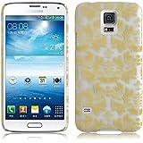 JAMMYLIZARD | Damast- Motiv Back Cover Hülle für Samsung Galaxy S5 / S5 NEO, GELB