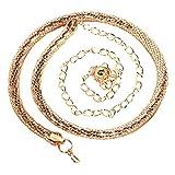 77f922072d1c Malloom Las mujeres de moda de la señora serpiente cadena cadena de metal  estilo cinturón cuerpo