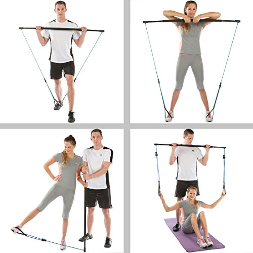 Ultrasport-Gymnastic-Bar-with-Rubber-Bands-Multifunctional-Fitness-Trainer-with-Training-Instructions-incl-Transport-Bag