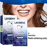 Bleichstreifen für Zähne, Bleichmittel für Zähne, Zahnausbleicher, Zahnentzahnung Kit - Zahnentzündung - sicher für Nagellack
