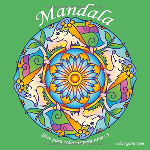 Mandala libro para colorear para niños 3 (Mandala para niños)
