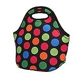 KonJin Neopren Wärmeschutz Lunch-Bag im Kunstdesign mit Tragetaschengriff für Frauen, Kinder, Mädchen,Lunchtasche Wasserdichtes Tasche Isolierte Mittagessen Kühler