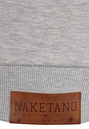 Naketano Patty immer Hände Hoch W sweat à capuche Grey Melange