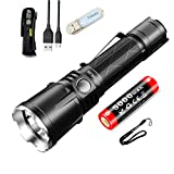 Klarus XT21X Taktisch Taschenlampe 4000 Lumen / 316 Meter CREE XHP70.2 P2 LED USB Wiederaufladbar Leistungsstark Taschenlampen mit 21700 Akku und Tidusky USB Licht
