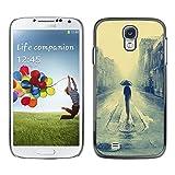 Caucho caso de Shell duro de la cubierta de accesorios de protección BY RAYDREAMMM - Samsung Galaxy S4 - Londres lluvioso Pintura