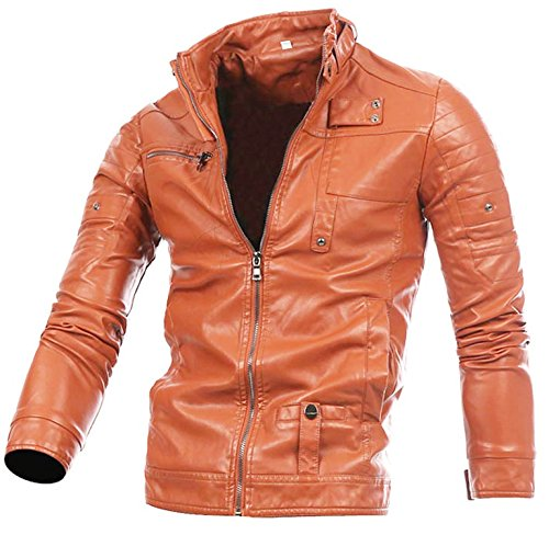 Aiffer Mann Faux Leder PU Biker Jacke Mode Schlank Passen Lokomotive Leder Vorderseite Reißverschluss Mantel Stand Halsband Casual Motorrad Oberbekleidung.