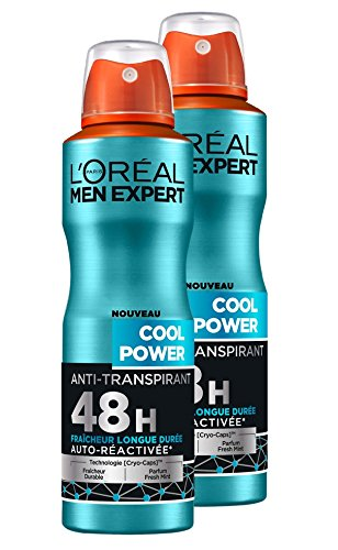 L'Oréal Men Expert Cool Power Déodorant Spray Homme Lot de...