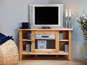 tv tisch fernsehschrank in kiefer massiv k che haushalt. Black Bedroom Furniture Sets. Home Design Ideas