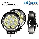 Faro a LED, 2 X 27W LED lavoro fuori strada luce lampade riflettore proiettore per Off Road Moto 4WD SUV ATV UTV Camion