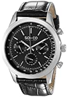 SO & CO New York Monticello 5006AL.2 - Reloj de pulsera Cuarzo Hombre correa dePiel Negro de SO & CO New York