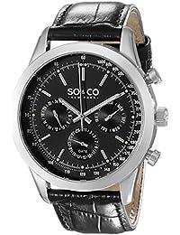 SO & CO New York 5006AL.2 - Reloj de cuarzo para hombres, negro