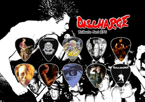 Discharge Punk Chitarra Pick Plettro Plettri Display - Premium Celluloid Tribute Set