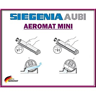 System der natürlichen Belüftung Aeromat Mini + aktivieren der Block der, Siegenia Aubi, Inc. Schrauben