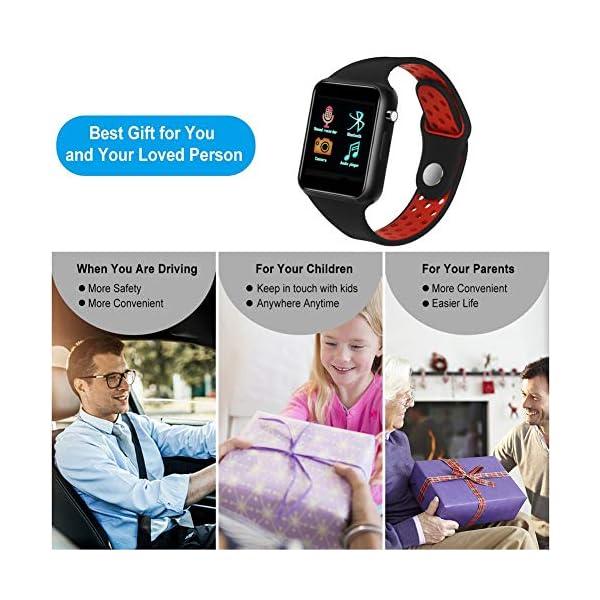 Dr.Haer Reloj Inteligente, M3 Smartwatch Bluetooth Deporte Fitness Tracker con Monitor de Pulso Cardiaco,Rastreador de Ejercicios para iOS, Android Phones,etc 6