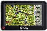 Becker Active 43 Traffic V1 inkl. TMC (10,9 cm Display, Kartenmaterial Europa 43, 3D Ansicht, Becker BestTracks, Becker EasyClick Aktivhalter) schwarz/silber