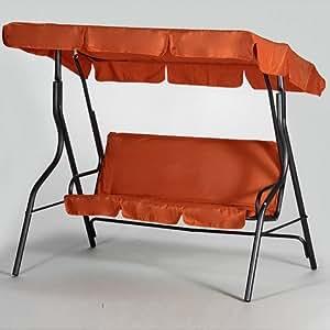 gartenschaukel stahlrohrgestell eisengrau inklusive auflage und dach grau. Black Bedroom Furniture Sets. Home Design Ideas