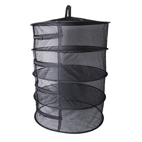 zrshygs Drying Rack For Plegable Prenda de Ropa 4 Capas de Malla Dry Net Hanging Planta a Base de Plantas Ropa de Prendas de Vestir Rack de Secado BK