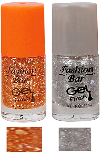 Fashion Bar Neon Nail Polish Combo, 10ml (Pack Of 2)  available at amazon for Rs.95