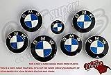 Blau & Weiß Kohlenstofffaser Abzeichen Emblem Vinyl Überzug Aufkleber Superwrappz Bezüge für BMW Haube Koffer Felgen Räder für Alle BMW Serie 1, 2, 3, 4, 5, 6, 7, X1, X2,X3,X4, X5,X6,Z1, Z3,Z4,Z8,