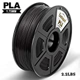 PLA 3D Printer Filament,Enotepad PLA Filament 1.75mm,Dimensional Accuracy 1.75±0.02 mm,Black PLA 1KG Spool