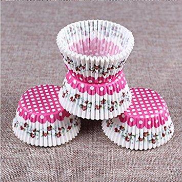 Nalmatoionme Rose gâteau Tasse de cuisson Standard Tasses Moules (à damiers)