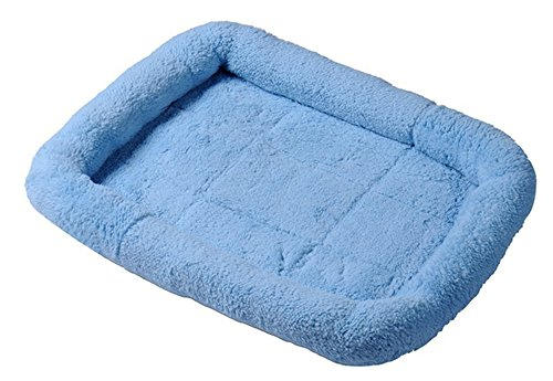 NOBRAND Machine Washable Pet Padded Bed Dog Mat Bed Non-slip Cozy Cashmere Bed with Waterproof Bottom 5Colors 2 Sizes