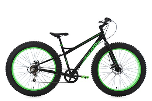 KS Cycling Herren Mountainbike Fatbike 26\'\' schwarz-grün Fahrrad, 26