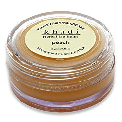 Khadi Peach Lip Balm With Beeswax & Sheabutter,10gms(pack of 2)