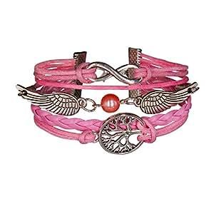Bracelet Infini Harry Potter Rose Arbre de vie Infinity Rose Perles