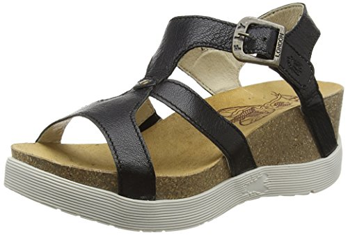 FLY London Weil 670, Sandales Femme Noir (Mousse Black)