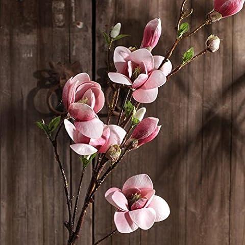 San Tai@cabezas Artificial flor de seda para la decoración de la boda de la fiesta en casa ramos de flores,Paquete incluido:(1pcs),sin botellas
