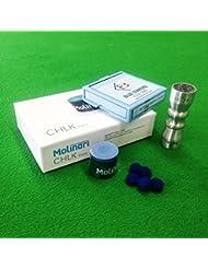 Bleu Diamant queue de billard/snooker billard, craie Molinari & Cuetec bowtie Outil Kit d'accessoires